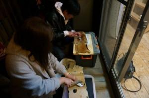 2014年3月21日から23日まで潮岬キャンプを行いました!2日目夜魚パーティー☆