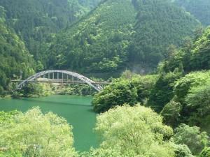 温泉横のダム